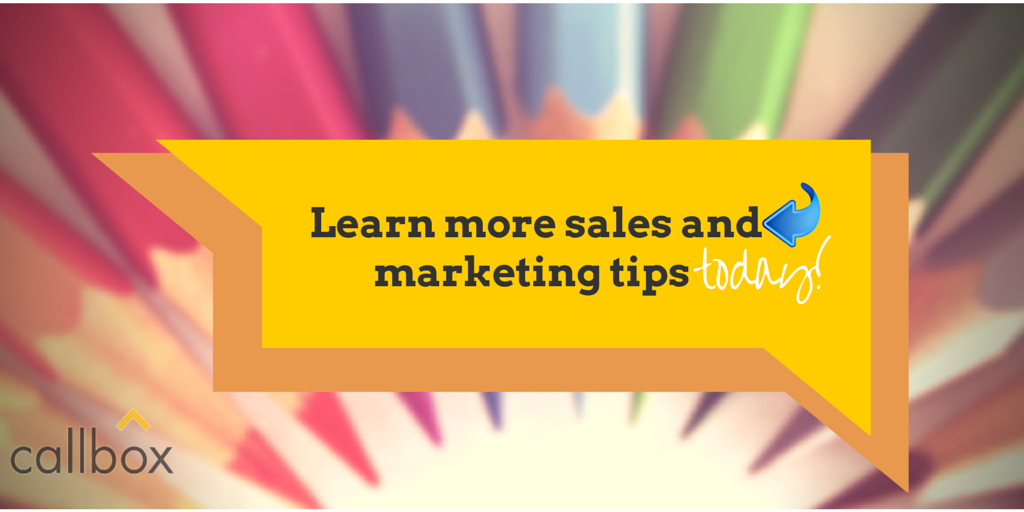 Learn More Sales and Marketing Tips