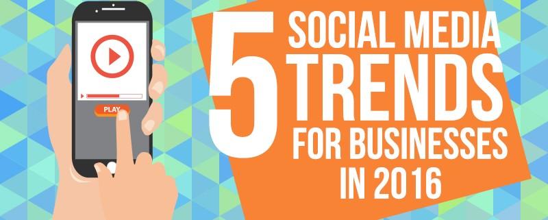 5 Social Media Trends for Businesses in 2016