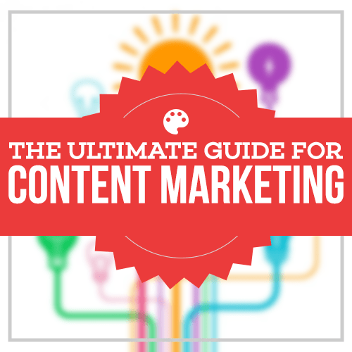 The ultimate guide for content marketing ebook cover
