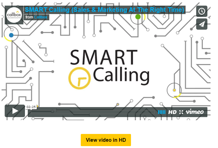 Smart Calling - Sales and Marketing at Right Time - Callbox
