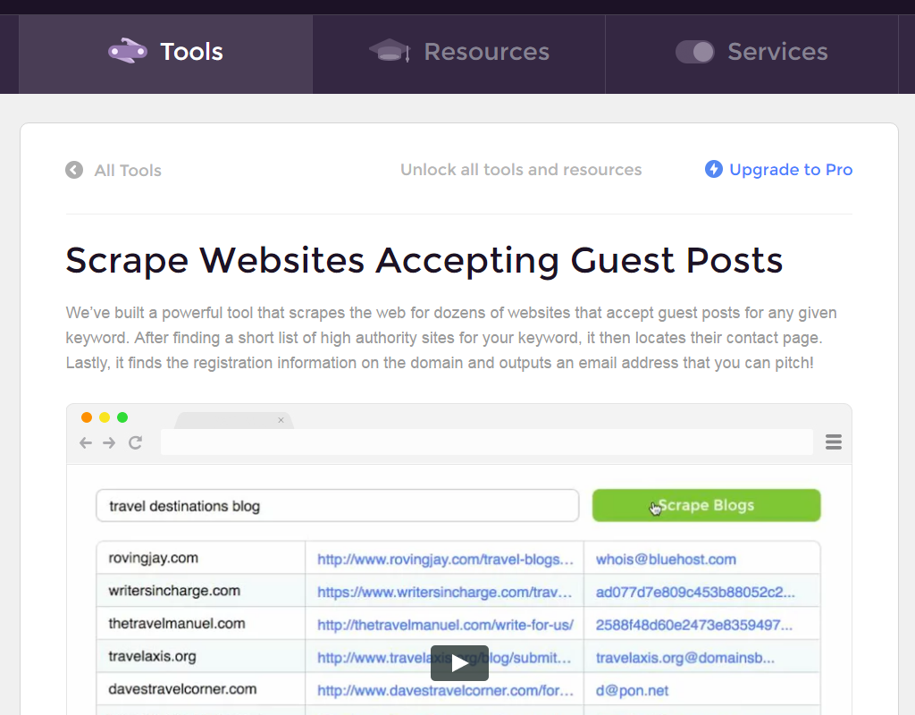 Scrape Websites Accepting Guest Posts