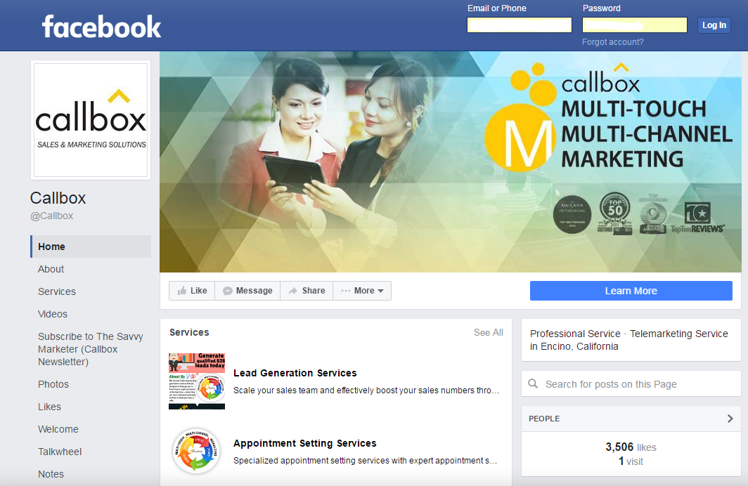 Callbox - Lead Generation Company - Facebook Profile