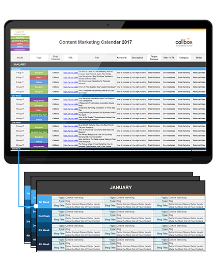 Content Calendar Template Free Download - Content creation template