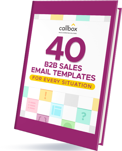 40 B2B Sales Email Templates for Every Situation eBook Cover