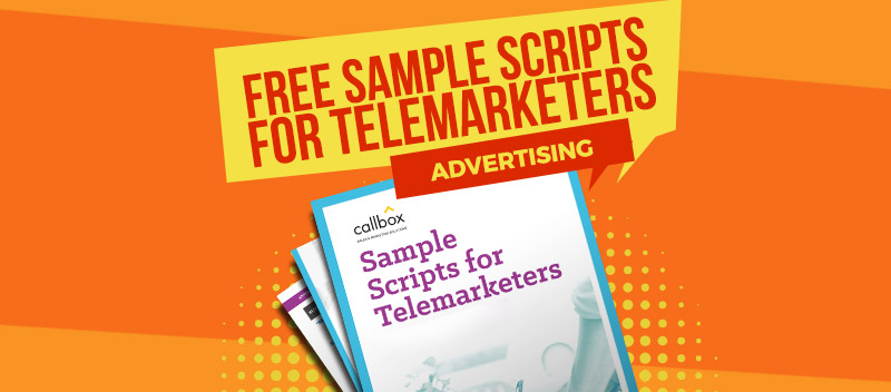 Sample Scripts for Telemarketers - Advertising