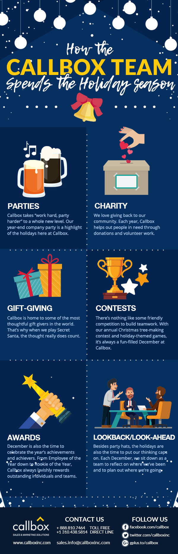 How the Callbox Team Spends the Holiday Season [INFOGRAPHIC]