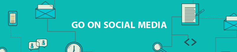 Go on social media