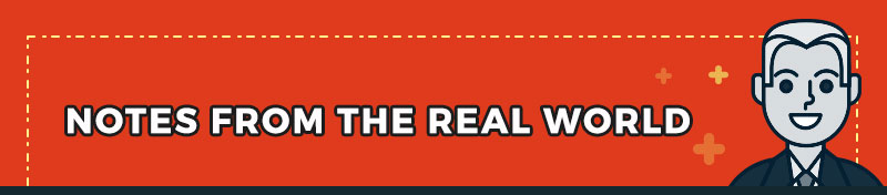 Notes from the real world