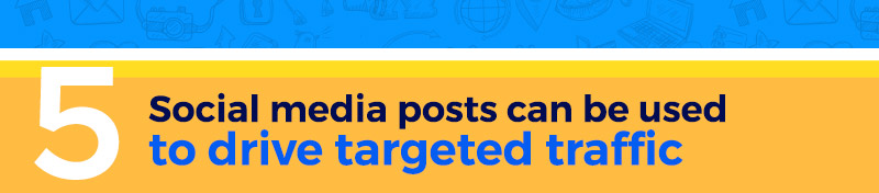 Social media posts can be used to drive targeted traffic