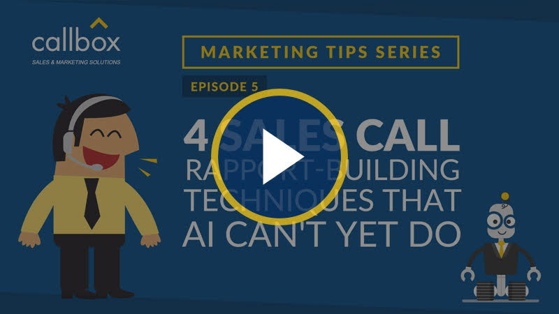 4 Sales Call Rapport-Building Techniques That AI Can't Yet Do