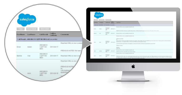 Salesforce Report Engine