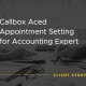 """Callbox Client Success Story image that says """"Callbox Aced Appointment Setting for Accounting Expert"""""""