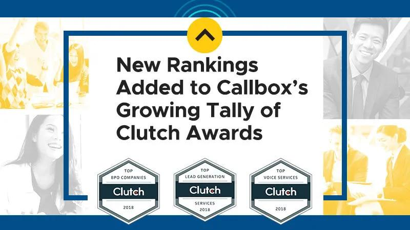 New Rankings Added to Callbox's Growing Tally of Clutch Awards