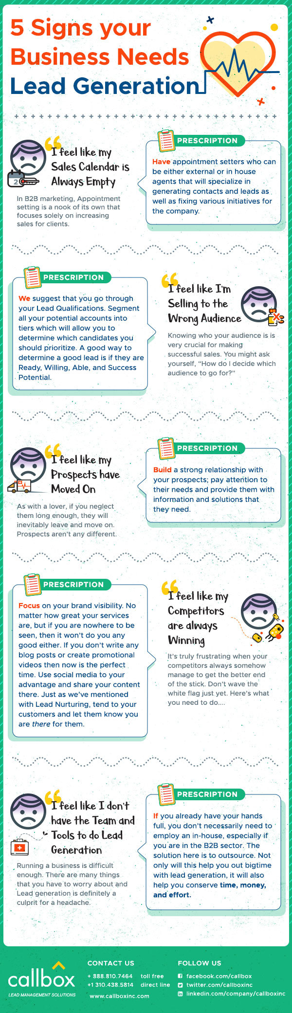 5 Signs Your Business Needs Lead Generation [INFOGRAPHIC]