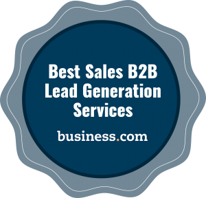 The Best Sales B2B Lead Generation Services according to Business.com Badge