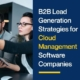B2B Lead Generation Strategies for Cloud Management Software Companies
