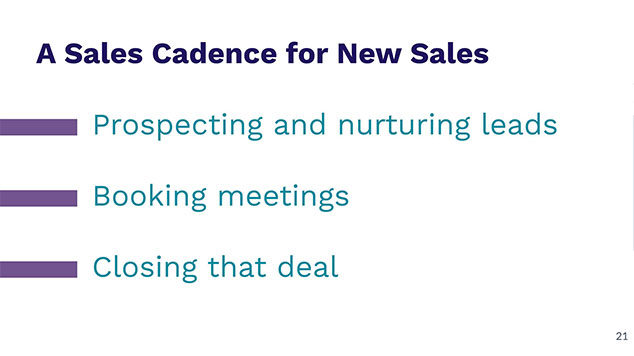 Sales Cadence for New Sales Pointers: Prospecting and nurturing leads, booking meetings and closing that deal