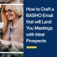 How to Craft a BASHO Email that will Land You Meetings with Ideal Prospects
