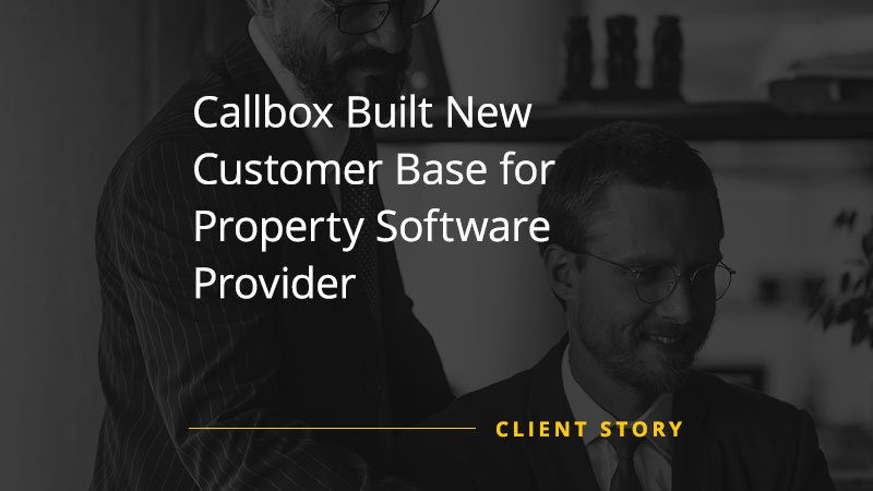 Callbox Built New Customer Base for Property Software Provider